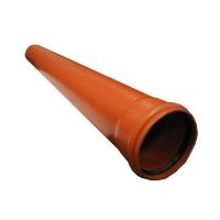 Фасонина.Труба d 110 х 3 м толщина стенки 3,2 мм рыжая Хемкор SN4