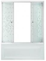Штора на ванную TRITON 2 двери МОЗАИКА 1,5 стекло 4мм.