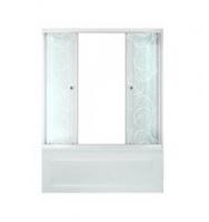Штора на ванную  TRITON 2 двери УЗОРЫ 1,7 стекло 4мм.