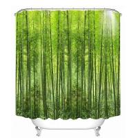 Шторка д/ванной Shower Curtain 3D А-1-950 зеленый