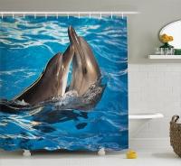 Шторка д/ванной Shower Curtain клеёнка №551 бол. дельфин