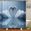 Шторка д/ванной Shower Curtain клеёнка №619 лебедь