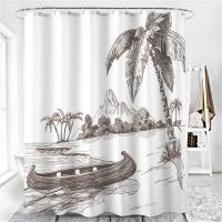 Шторка д/ванной Shower Curtain клеёнка №923 корабли