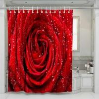 Шторка д/ванной Shower Curtain 3D А-1-190 красн/вишнев