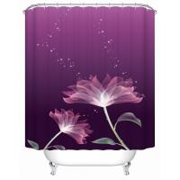 Шторка д/ванной Shower Curtain 3D А-1-190 фиолетов.