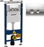 "Инсталляция ""GEBERIT""4 в 1 код 458.103.00.1 (кнопка , рамка, бачок с арматурой , крепёж,шумоизоляц.)"